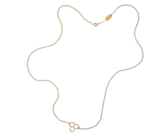 Tessa Packard Honeycomb gold neclace