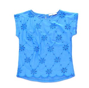M&S Girls Broderie Top