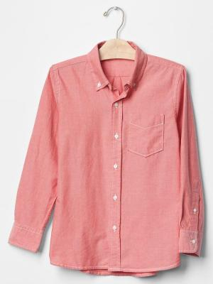 Pink Oxford shirt