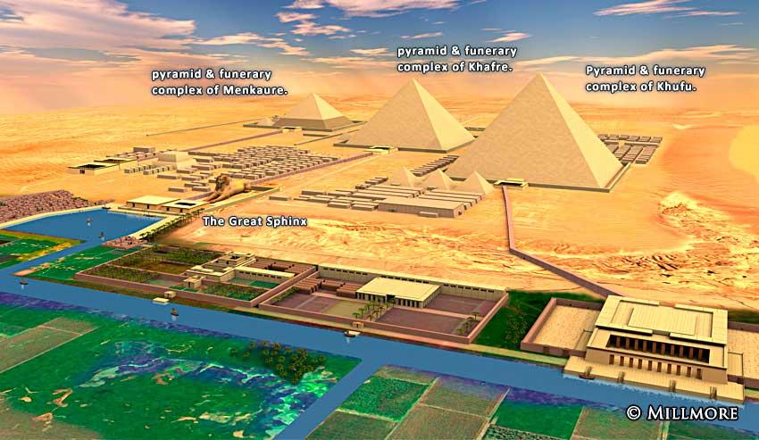 Ramayana 3d Wallpaper Giza Pyramids