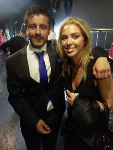 Aneta also said hi to Max from Switzerland. After the show she wanted to speak to the MGE delegates.