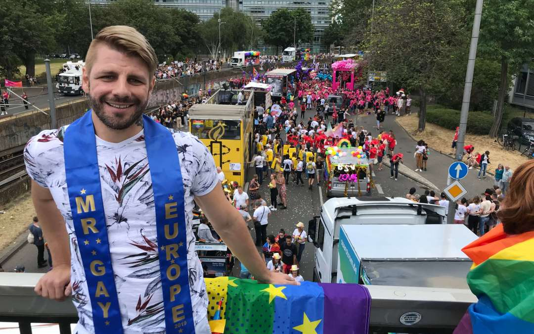 Alexander came out to his family after winning Mr Gay Europe!