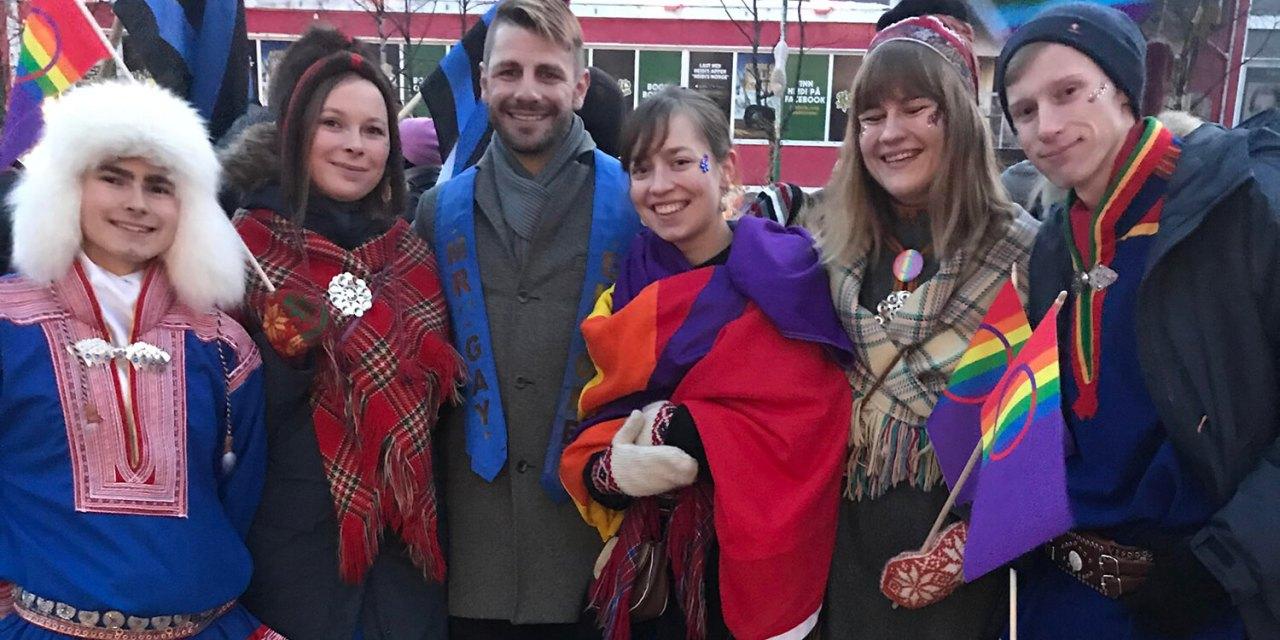 Mr Gay Europe 2019 Alexander Petrov visits Arctic Pride