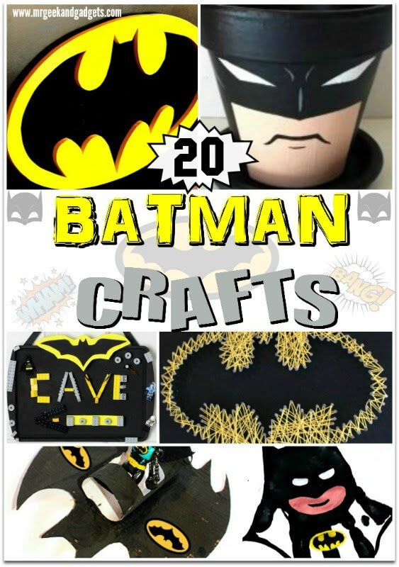 Please Pin This Batman Crafts for kids