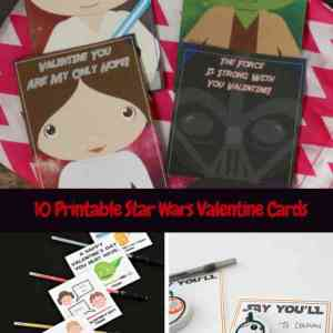 10 Printable Star Wars Valentine Cards