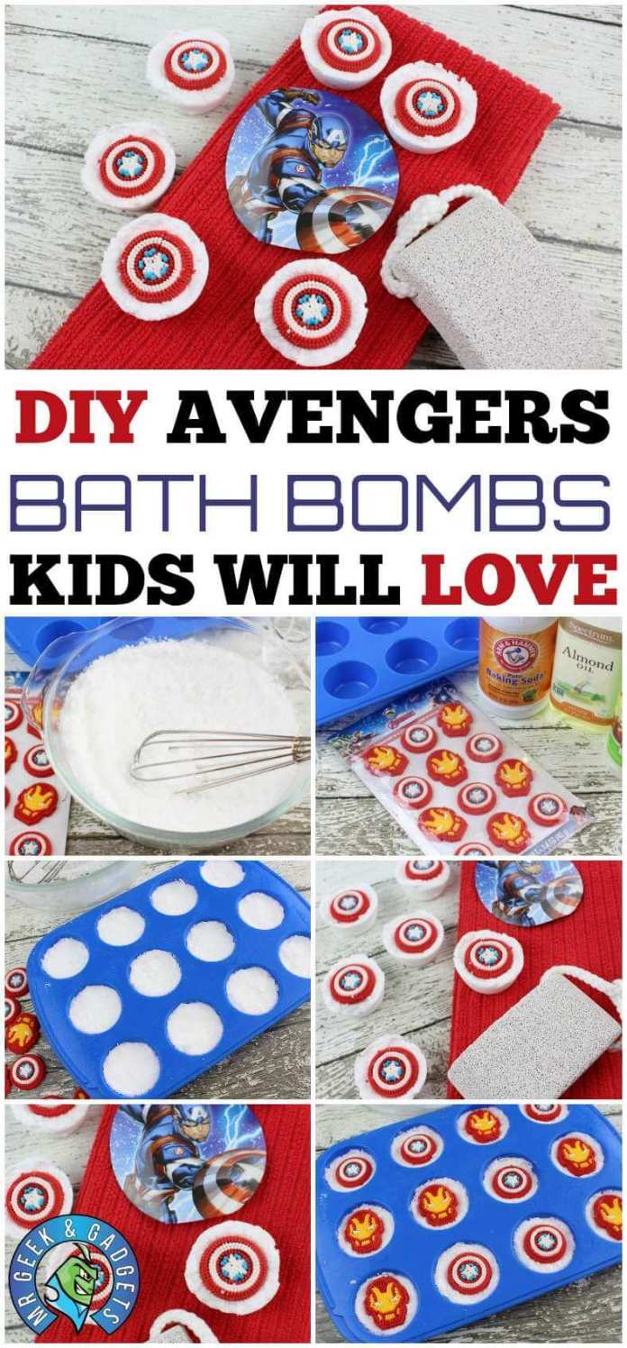 Pin Me DIY Avengers Bath Bombs Recipe