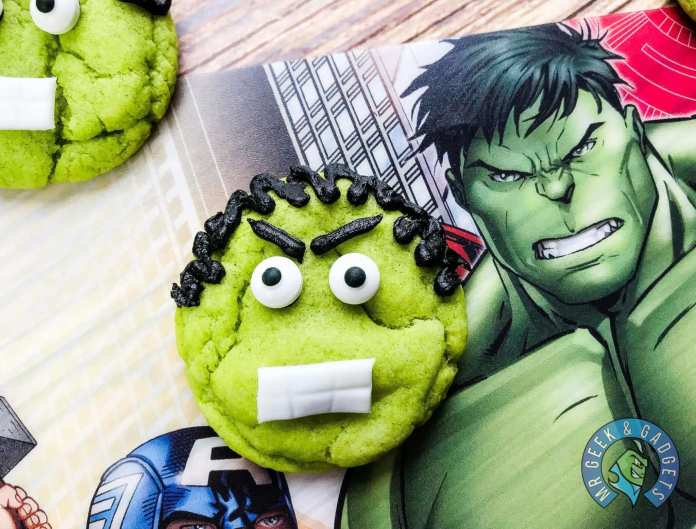 Avengers Hulk Cookie Recipe - Finished