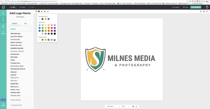 Creating A Corporate Logo with DesignEvo