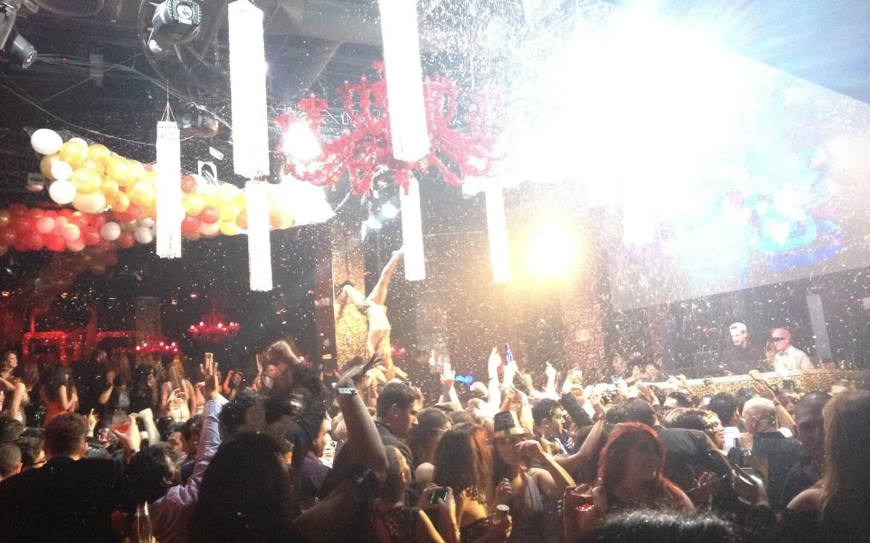 Party revelers in a Las Vegas Nightclub