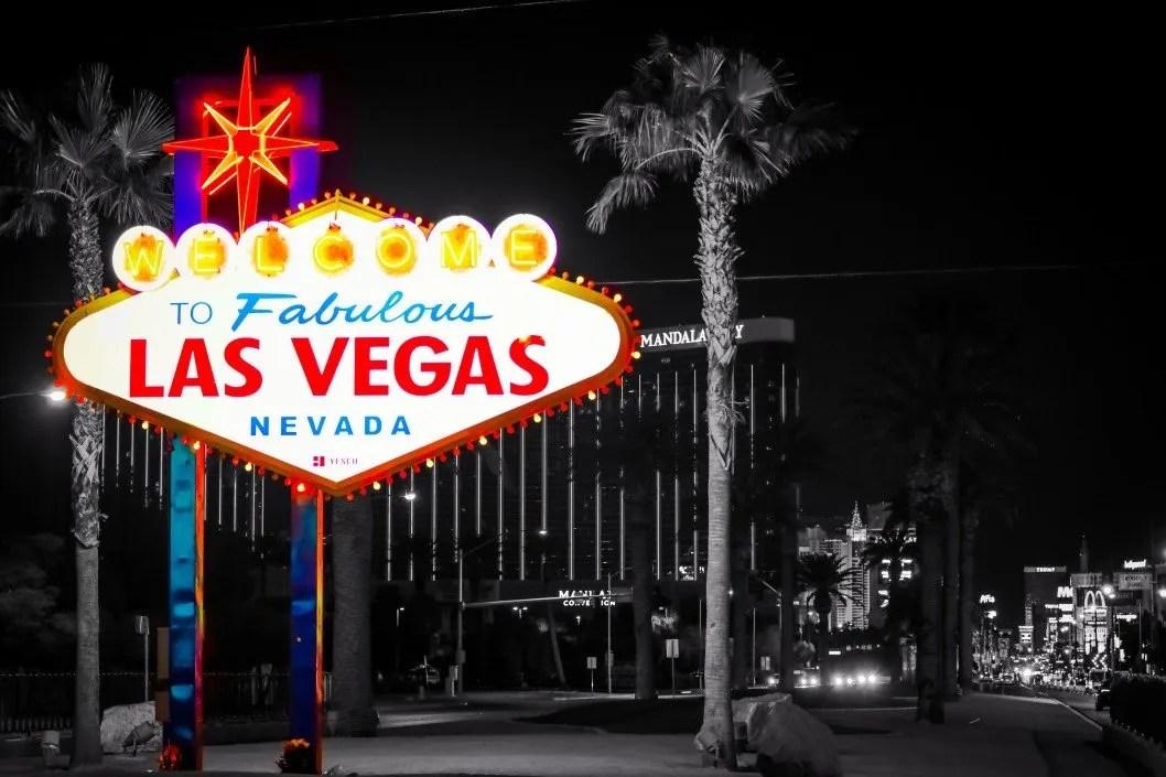 Las Vegas Sign Shining Brightly