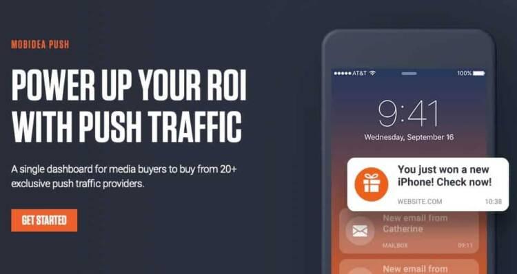 mobidea home page marketing