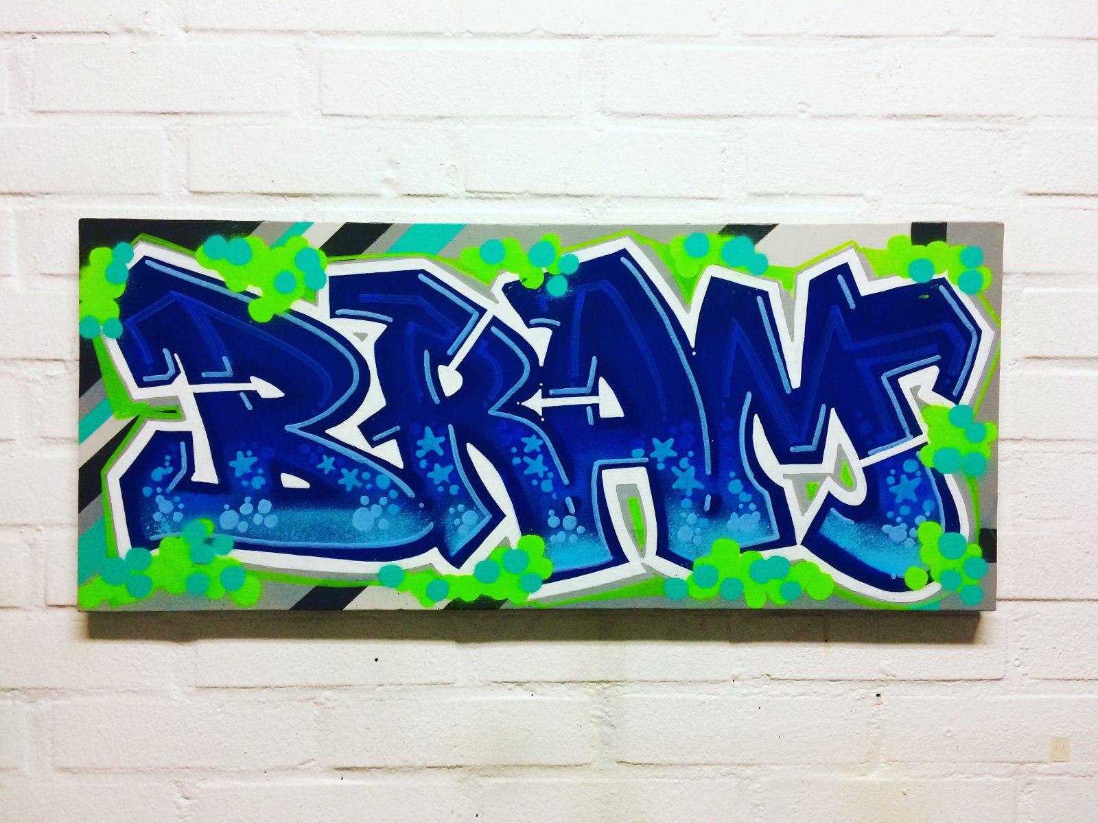 Mr Graffiti Doek Bram  Mr Graffiti