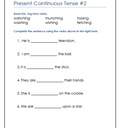 English Grammar Worksheets Present Continuous   robertdee.org [ 1020 x 790 Pixel ]