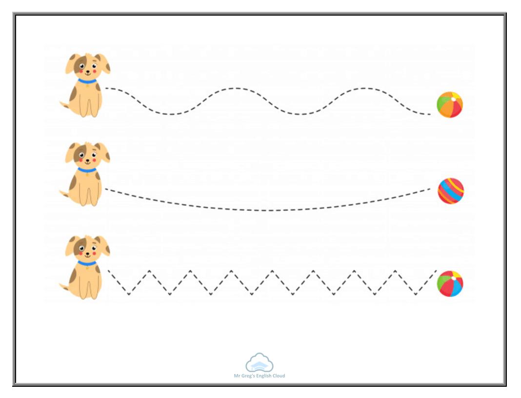 Kindergarten Tracing Lines