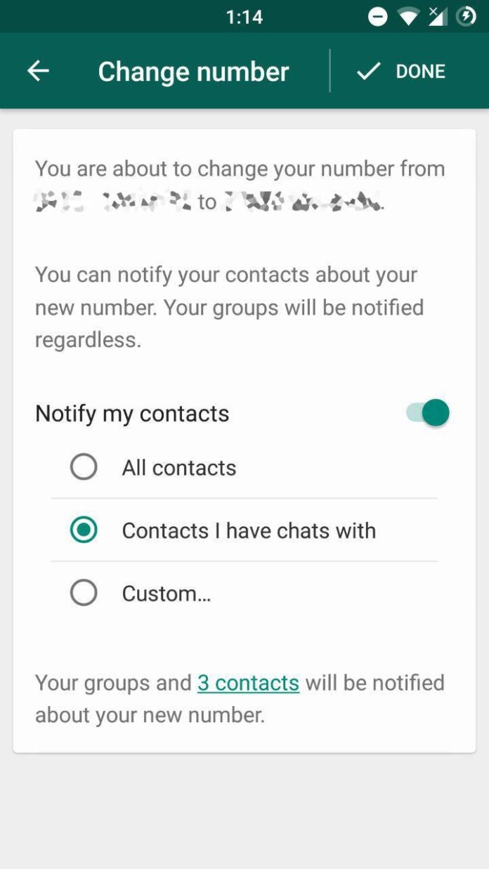 Image result for whatsapp change number images