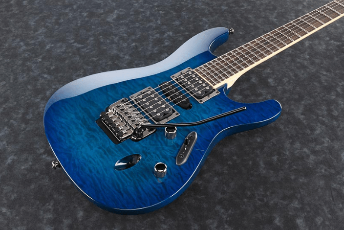 Ibanez S670QM S Series Electric Guitar Sapphire Blue