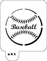 hair art stencil - baseball