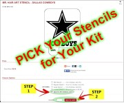 hair art stencil kit
