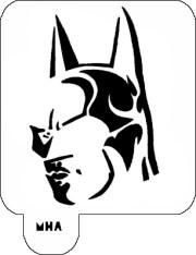hair art stencil - batman 1