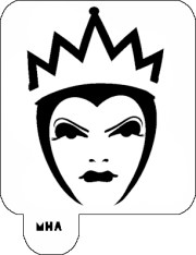 hair art stencil - evil queen