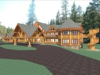Luxury Mountain Log Home Plans