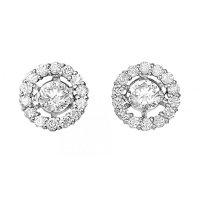 Rhythm Of Love 18ct 0.78ct halo design diamond stud earrings.