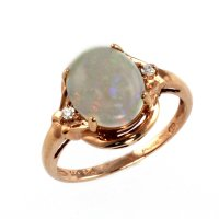 Rose Gold Ring: Rose Gold Ring Opal