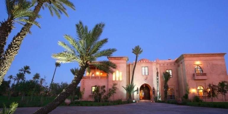 Villa de prestige à vendre au palmeraie marrakech