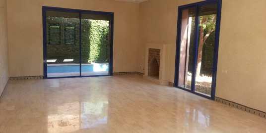 Location villa à  vide sur la route de casa marrakech