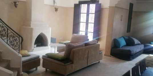 villa meublée a louer dans une résidence fermée à la palmeraie