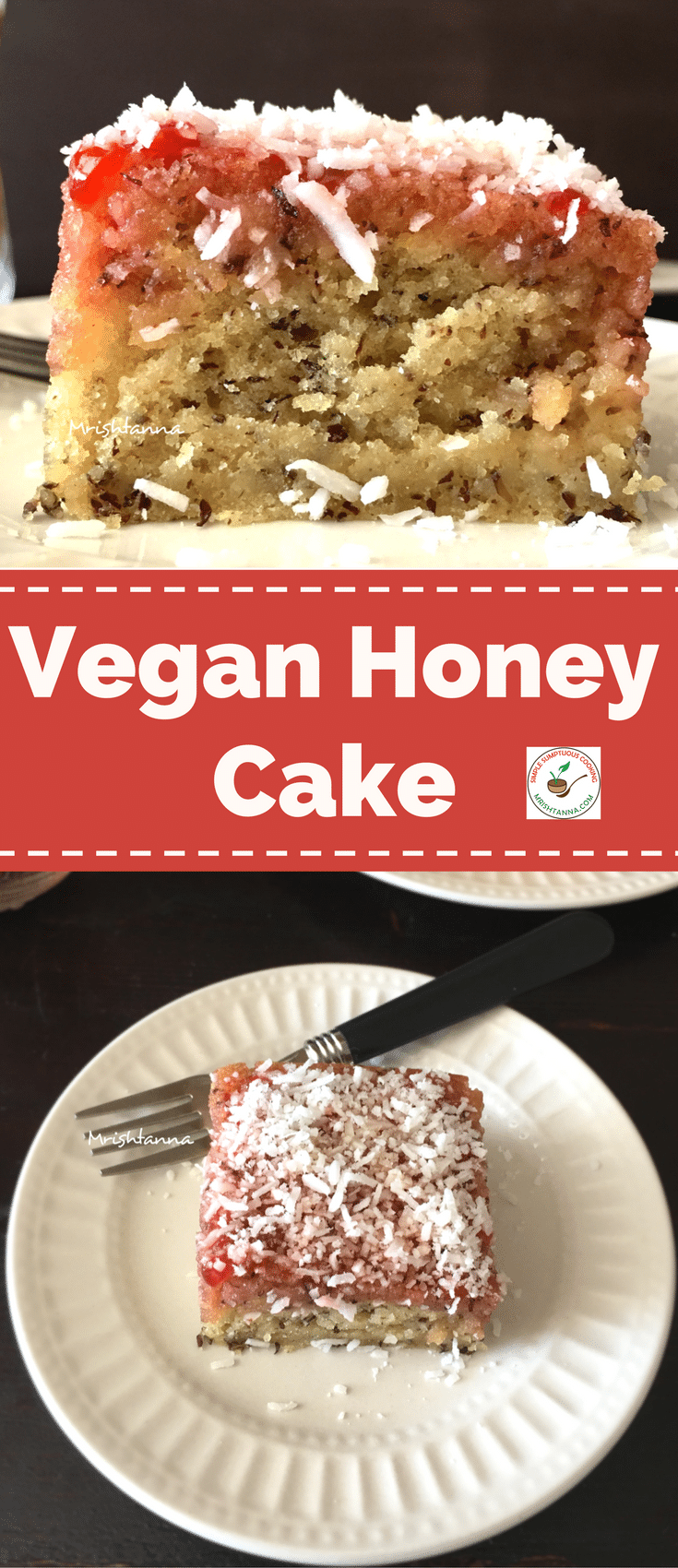 Easy Vegan Honey Cake