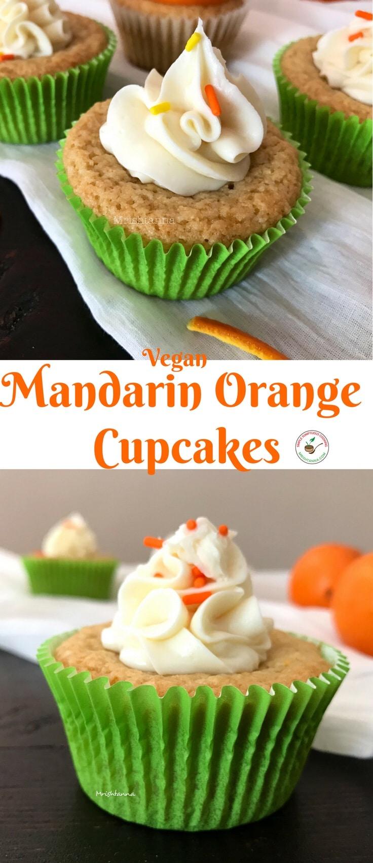 Mandarin Orange Cupcake