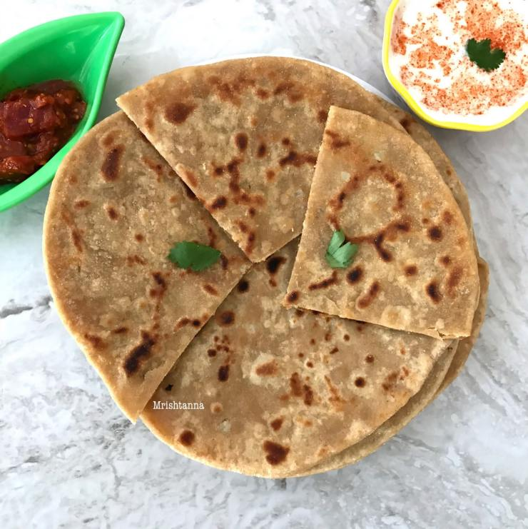 Cauliflower Stuffed Flat Bread (Gobi Paratha)