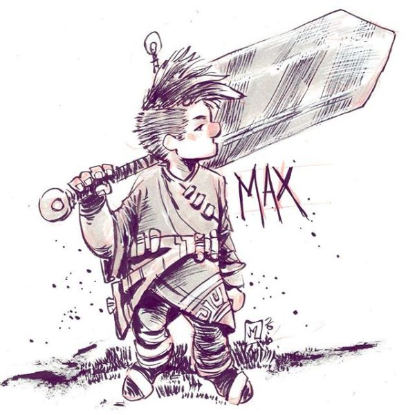 Character Design: Max My nephew is writing a story and this is how I saw the main character.