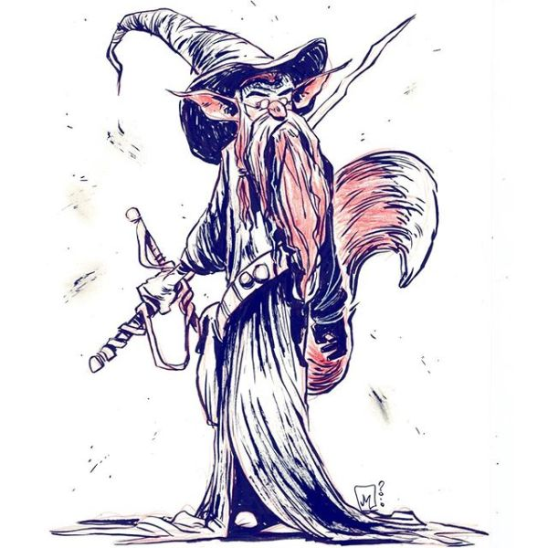 Foxy Wizard Warrior Thank you for your likes and comments. Good night.