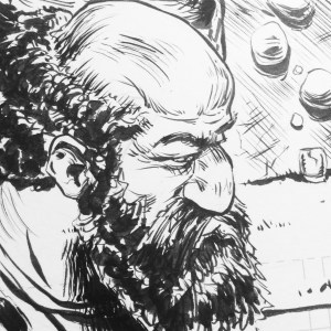 Closeup from a panel of a project I am working on.