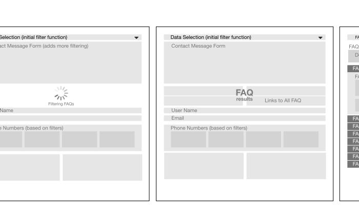 UX Web Wireframes