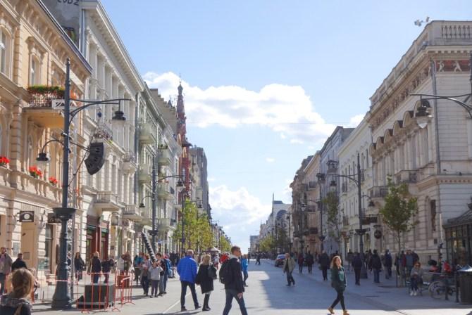 Piotrkowska Street Łódz citytrip