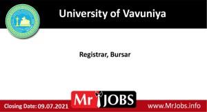 University of Vavuniya Vacancies