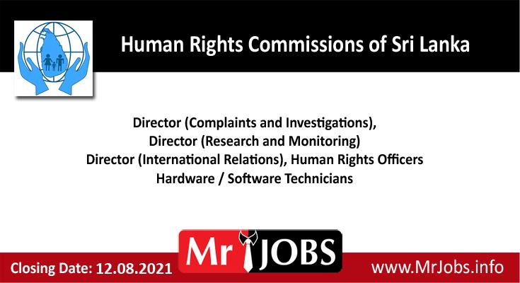 Human Rights Commissions of Sri Lanka Vacancies
