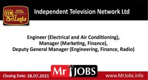 Independent Television Network Ltd Vacancies