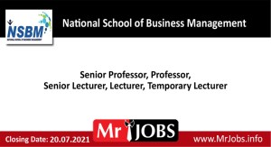 National School of Business Management Vacancies