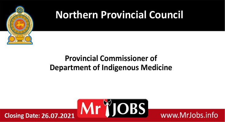 Northern Provincial Council Vacancies
