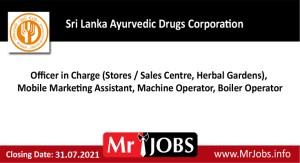 Sri Lanka Ayurvedic Drugs Corporation Vacancies