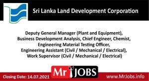 Sri Lanka Land Development Corporation Vacancies