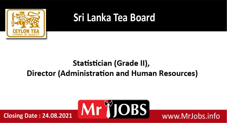 Sri Lanka Tea board vacancies