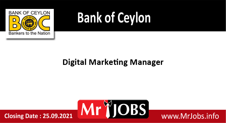 Bank of Ceylon Vacancies 2021