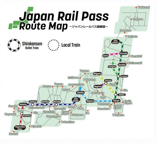 japan-rail-pass-route