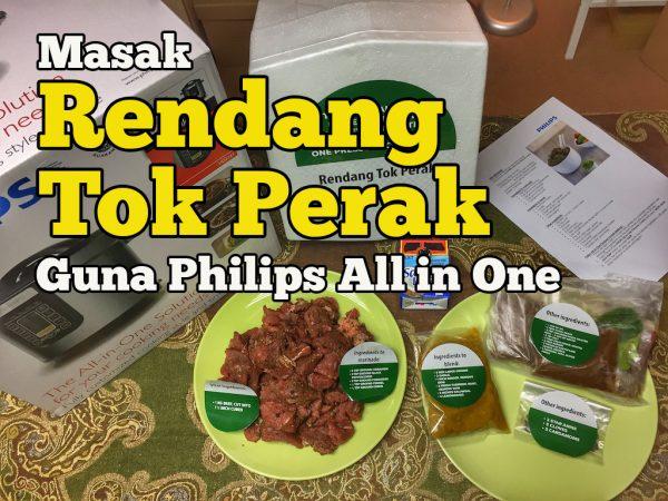 masak rendang tok perak guna Philips All-in-one