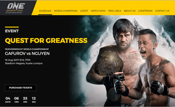 Quest For Greatness One Championship